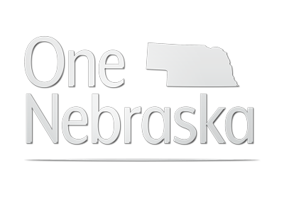 one nebraska white logo